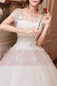 Robe Mariage Dentelle : robe du mariage forme empire blanche manche courte en dentelle ~ Mglfilm.com Idées de Décoration