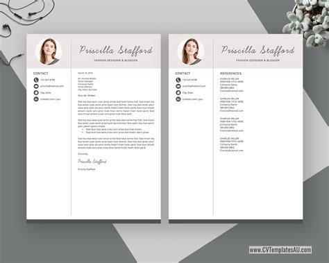 · planned and led required training session for teaching assistants and new composition teachers. Modern CV Template for Microsoft Word, Cover Letter ...