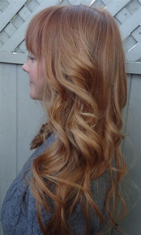 stunning shades  strawberry blonde hair color