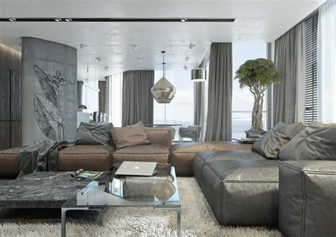 mit dem trendigen farbtrio grau braun weiss den wohnbereich