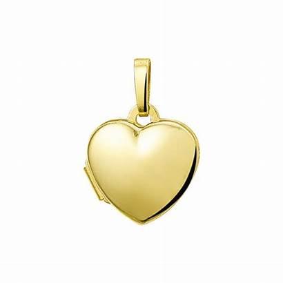 Gouden Glanzend Medaillon Hanger Hart Mm Mostert