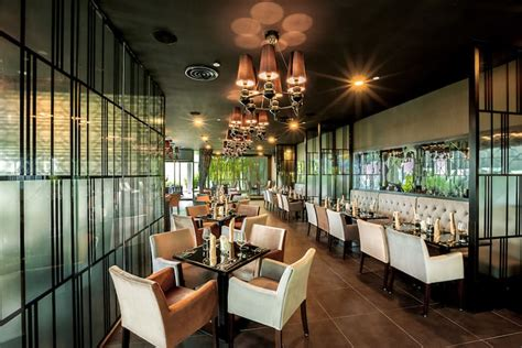 interior design ideas for living room and kitchen joie restaurant contemporary chic interiors with pretty