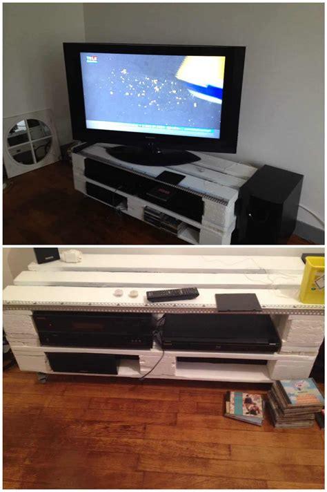 pallet tv stand meuble tv en palettes  pallets