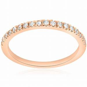14ct Diamond Ring 14K Rose Gold Womens Diamond Wedding