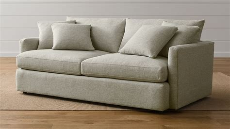 crate and barrel settee lounge ii 83 quot sofa taft cement crate and barrel