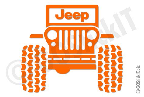 jeep vinyl decals jeep logo big tires jeep vinyl decal sticker gostickit