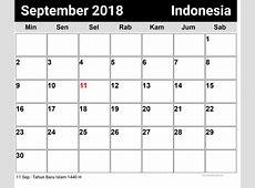 September, Indonesia Kalender 2018 newspicturesxyz