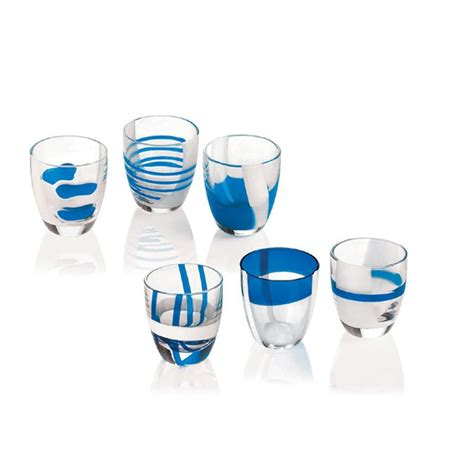 guzzini bicchieri bicchierini liquore 6 pezzi table 60 cc guzzini