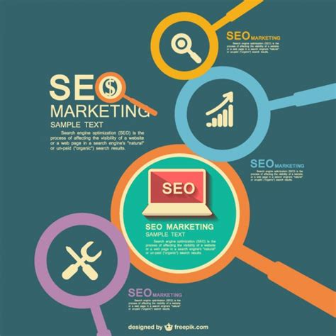 Seo Marketing seo marketing flat vector vector free