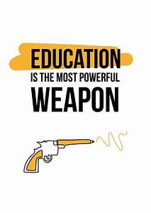 Education Is The Most Powerful Weapon Poster : education is the most powerful weapon democracy delivered send real postcards online ~ Markanthonyermac.com Haus und Dekorationen
