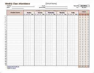 download a free weekly student attendance tracking record With tracking sheet template for teachers