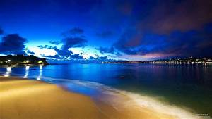 Beautiful Beach at Night Wallpaper View