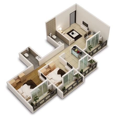 Top Apartment Floor Plans by 25 Two Bedroom House Apartment Floor Plans Amazing