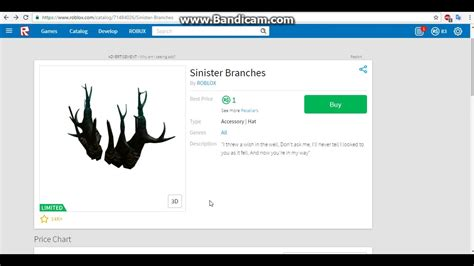 robux sinister branches youtube