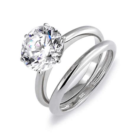 cheap silver rings engagement and wedding ring sets weneedfun