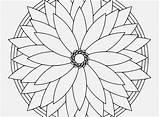 Kaleidoscope Coloring Pages Printable Simple Getcolorings sketch template