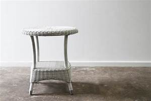 Hampshire Side Table White WashLS Rattan Commercial