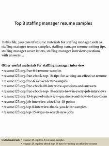 Administrative Officer Sample Resume Top 8 Staffing Manager Resume Samples