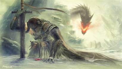 Knight Fantasy Wallpapers Definition Skyrim Epic Slected