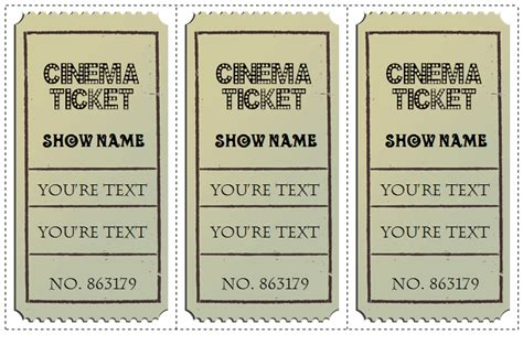 ticket templates  design customized