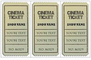 Blank Movie Ticket Template 6 Movie Ticket Templates To Design Customized Tickets