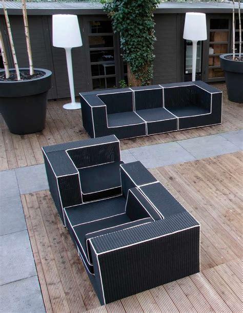 black  white outdoor wicker furniture haute terasse