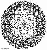 Kaleidoscope Coloring Pages Flower Simple Template Cool2bkids Printable Templates sketch template