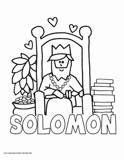 Solomon Coloring King Pages Wisdom Bible Temple
