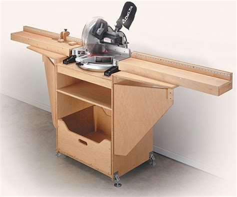 Portable Mitre Saw Table Plans  Woodworking Projects & Plans