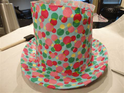chloes crafts cover  top hat  fabric celebrate