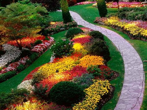 bedroom exteriograceful colorful garden flower bed ideas