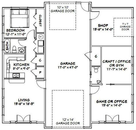 This trend is arising year after year, even today. 50x48 1 RV Garage -- 1 Br 1.5 Ba -- PDF Floor Plan ...