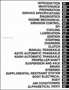 1998 Toyota Rav4 Repair Shop Manual Original