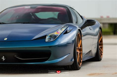 458 italia gets flip plastidip paint and vossen