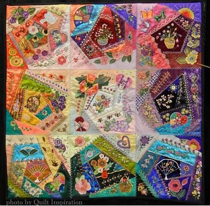 Quilt Arizona Silk Inspiration Sheila Crazy Quilting
