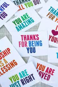 Kindness Thank You Cards Printable