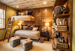 African Safari Themed Living Room by Rustic Kids Bedrooms 20 Creative Amp Cozy Design Ideas