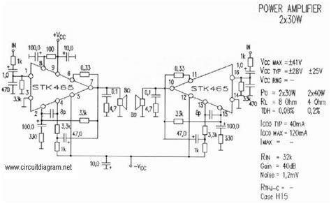 Audio Amplifier With Stk Circuit Schematic