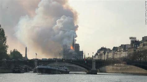 notre dame cathedral  paris   fire cnn