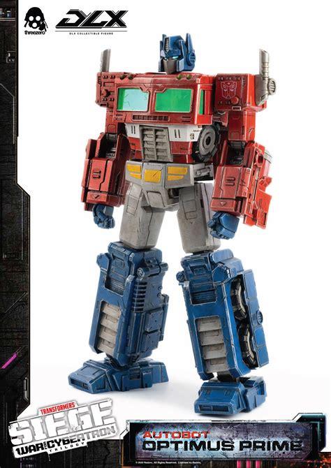 optimus prime dlx collectable figure  threezero