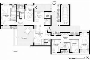 plan maison de plain pied avec suite parentale ooreka With plan maison plain pied 4 chambres avec suite parentale