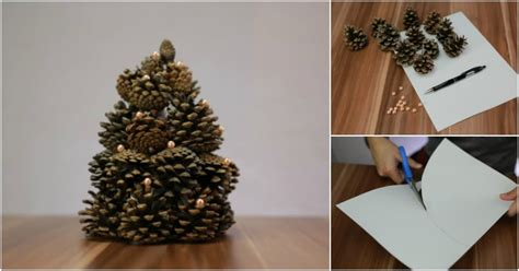 gorgeous christmas tree   pinecones