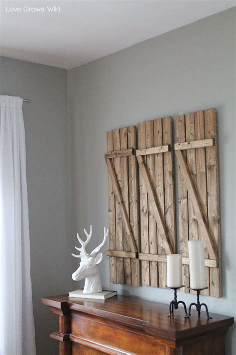 inspiring ways   vintage shutters   walls