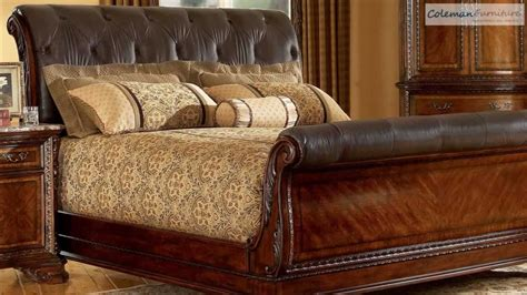 leather bedroom set old world leather sleigh bedroom collection from art 12067 | maxresdefault