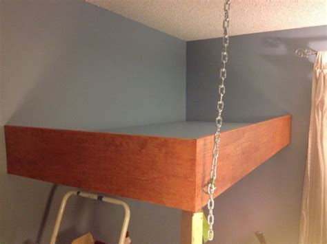 how to make a suspended bed redditor designs stunning hanging loft bed