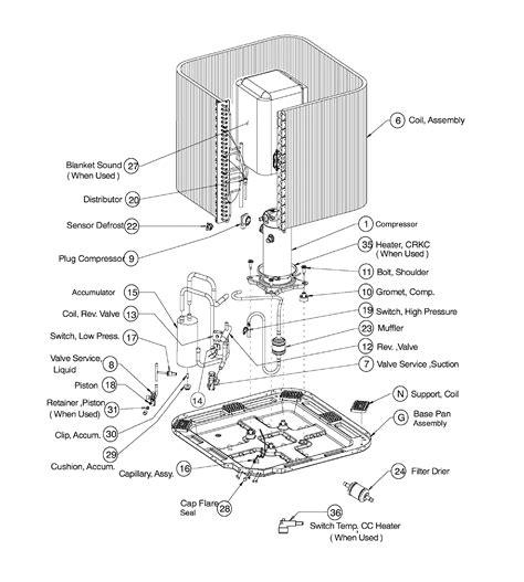 icp n4h342ake100 air conditioner heat outside unit genuine parts