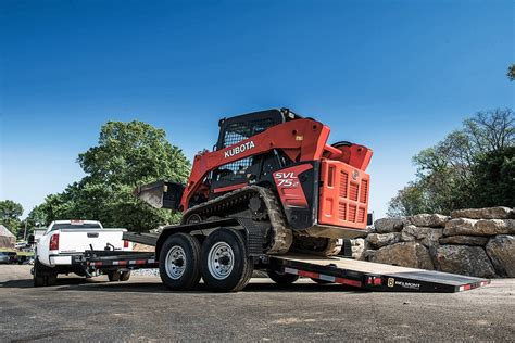 belmont gravity tilt skid steer equipment  profile equipment trailers
