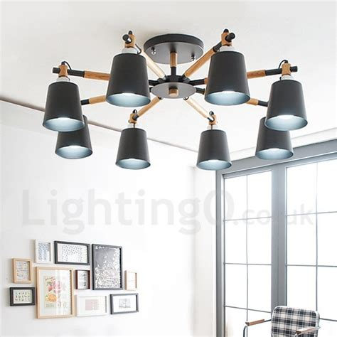 Led Lights For Living Room Next by 8 Light Modern Contemporary Wood Led Chandelier For