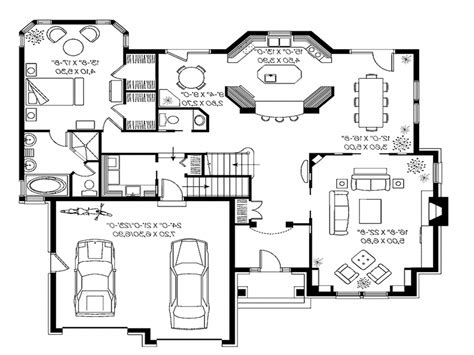 modern small house plans modern house floor plans