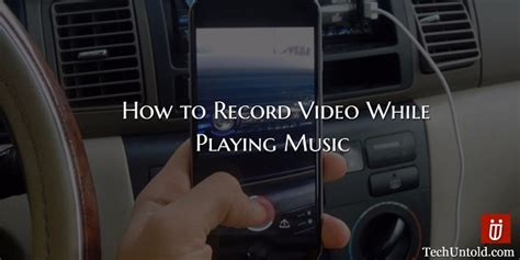 You can cut and split, add background music, add intros and outros, and get the video looking just how you want. How To Record Video While Playing Music On Phone In 2020 | TechUntold